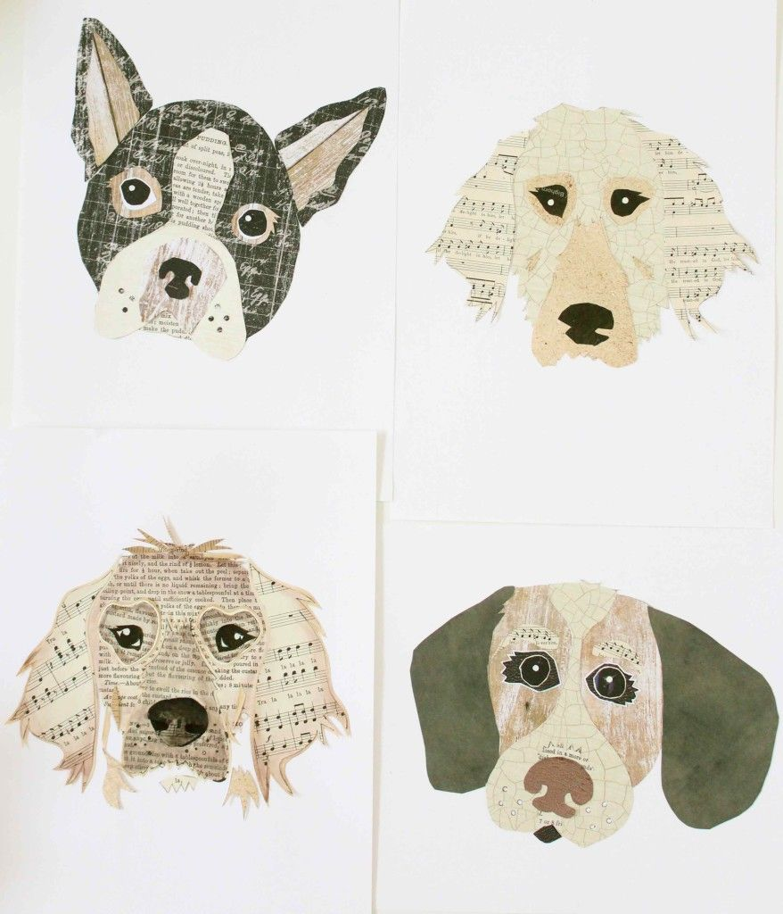 The Simplest Diy Dog Collages With Images Dog Artwork Diy