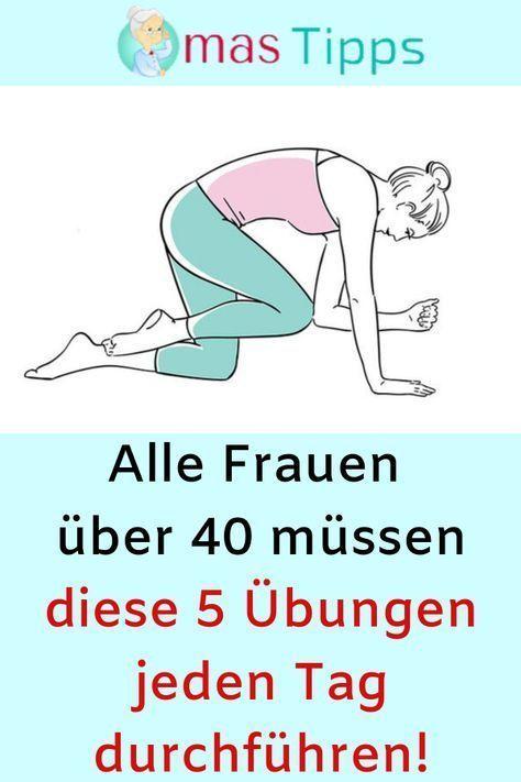 Alle Frauen über 40 müssen diese 5 Übungen jeden Tag machen! #Fitness # ... - Fitnessmotivation - Ho...