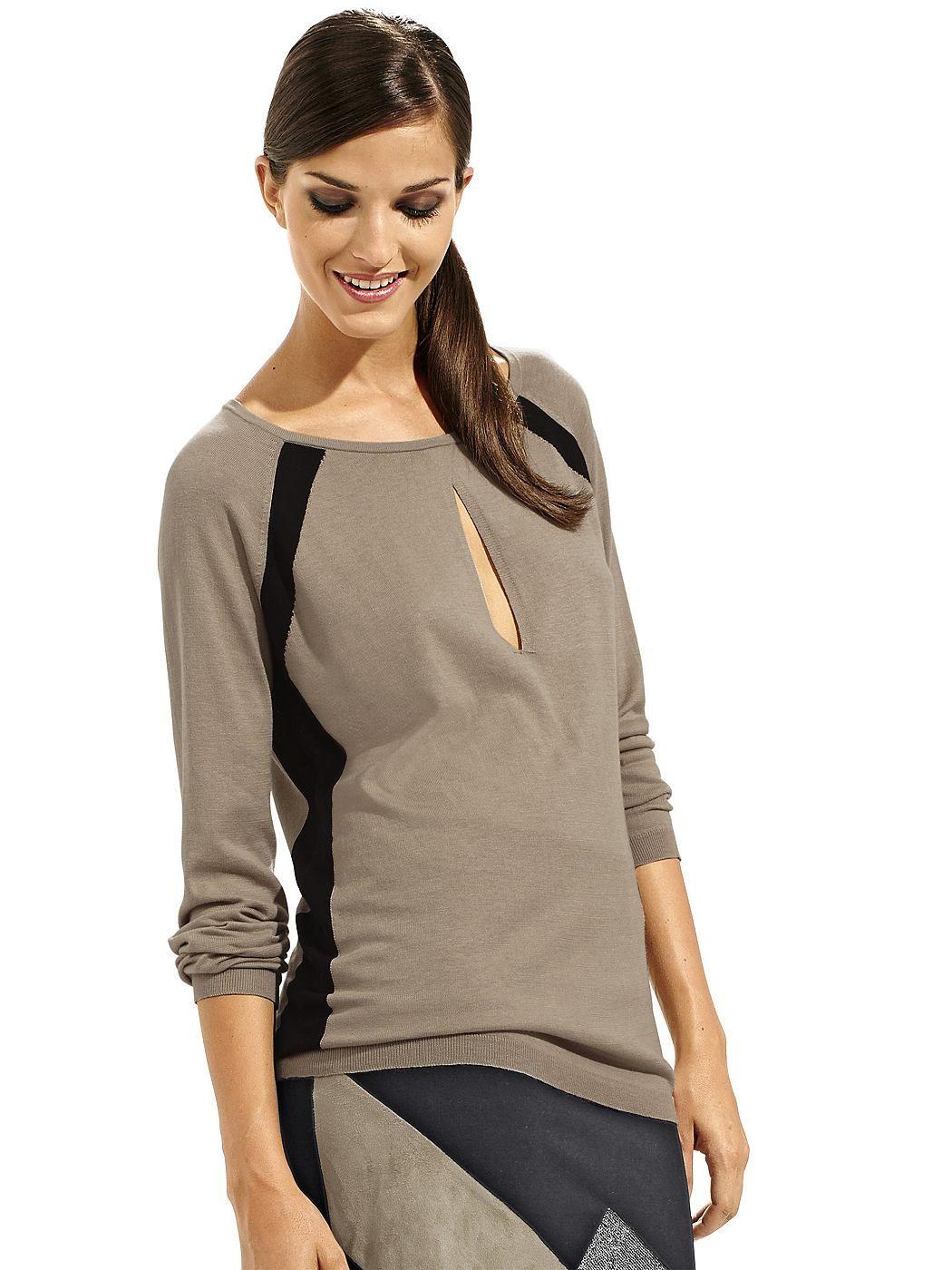 Pullover in traumhafter Materialzusammensetzung. Weite Form, Länge in Gr. 38 ca. 64 cm. 65% Baumwolle, 30% Seide, 5% Kaschmir, waschbar...