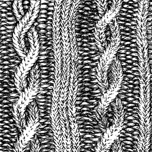Sketched Cable Knit Very Nice Detail Sketch