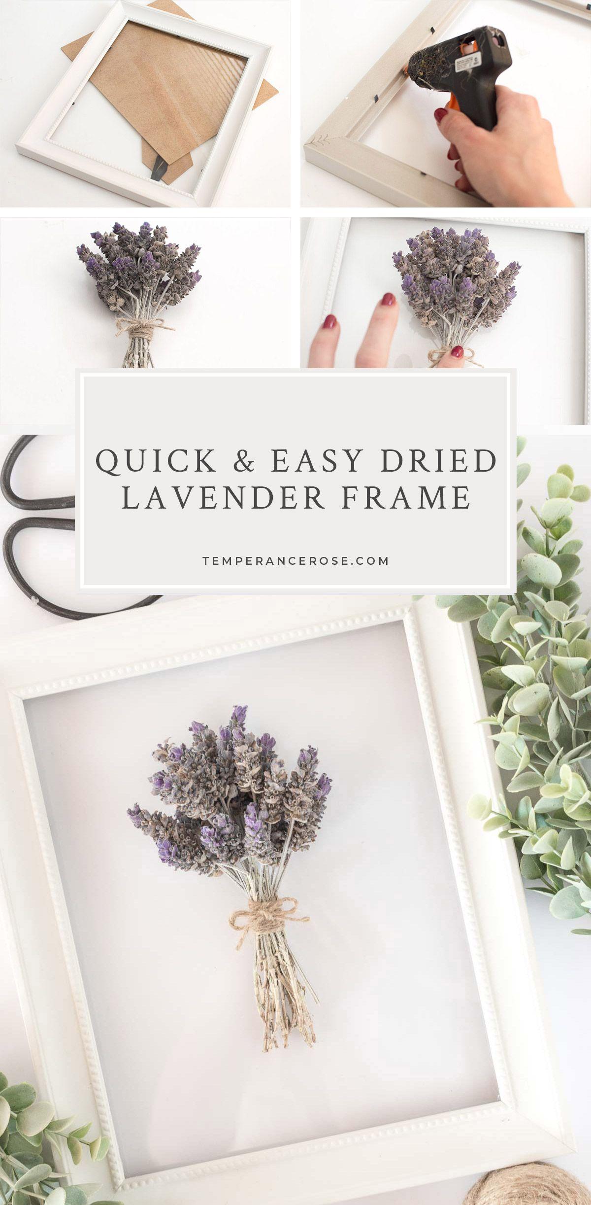 Diy Dried Lavender Frame Lavender Decor Spring Decor Dried Lavender