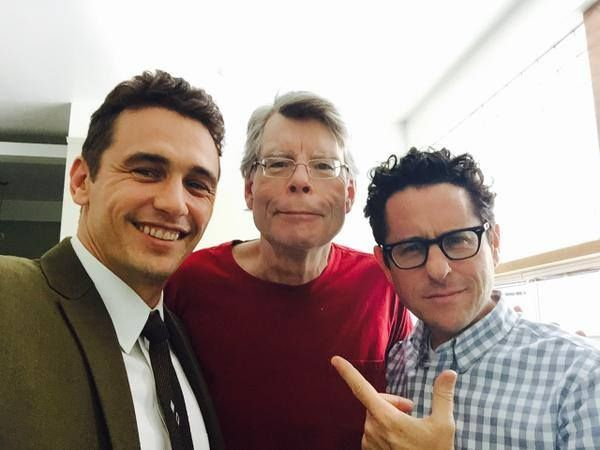 King just posted this on Facebook with the following text. Me, along with a couple of friends--James Franco and JJ Abrams--on the set of 11/22/63. Everything looks cool.