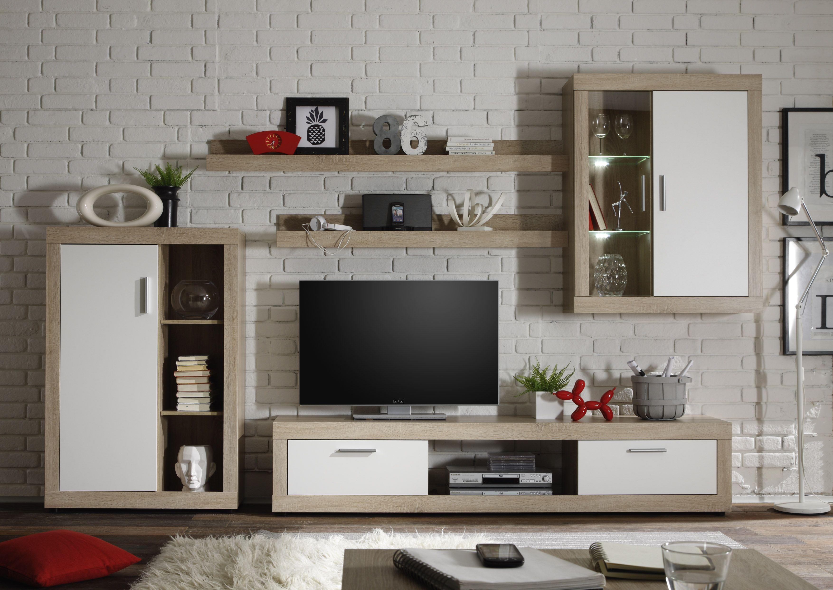 Interior design-ideen wohnzimmer mit tv wohnzimmer eiche hell  wohndesign und interior ideen  pinterest