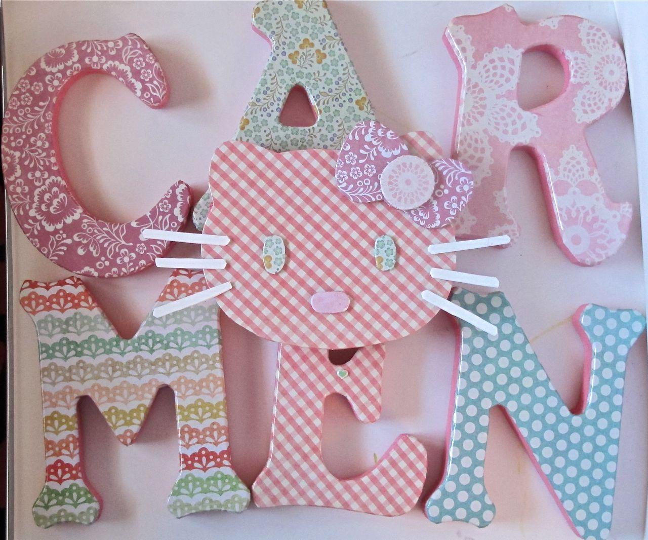 Carmen letras de madera para decorar letras y motivos - Letras en madera ...