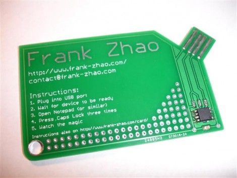 usb electronic business card