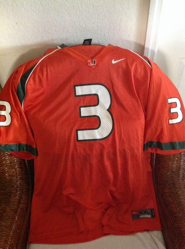 cheaper 33b6e cf470 Nike Authentic miami hurricanes u/m #3 Football jersey size ...