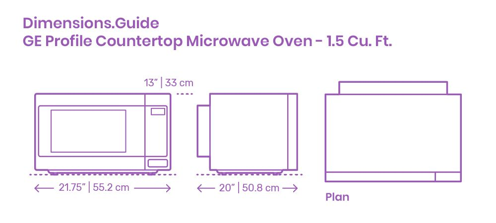 The Ge Profile Countertop Microwave Oven 1 5 Cu Ft Has Not