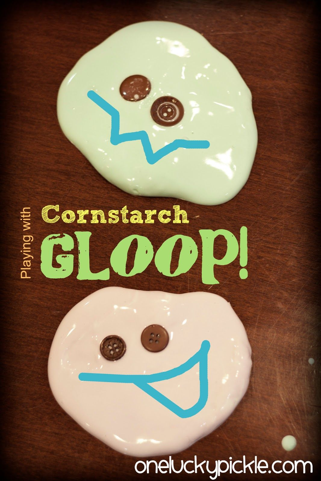 Let the kids make a mess and play with cornstarch gloop!
