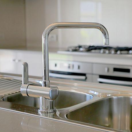 Caroma Saracom Kitchen Sink Mixer   Stylish U0026 Practical The Grand Display  Home   Fairmont Homes