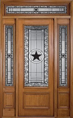 Front Doors With Texas Theme | Texas Star Front Door
