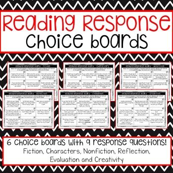 Here are 6 Reading Response Choice Boards which will help your - how to write a summary analysis and response