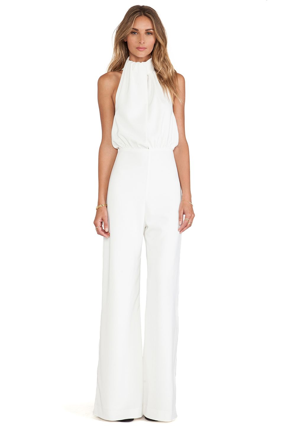 6075e6edb87 Rehearsal dinner wear  ) AQ AQ Spectrum Jumpsuit in Cream