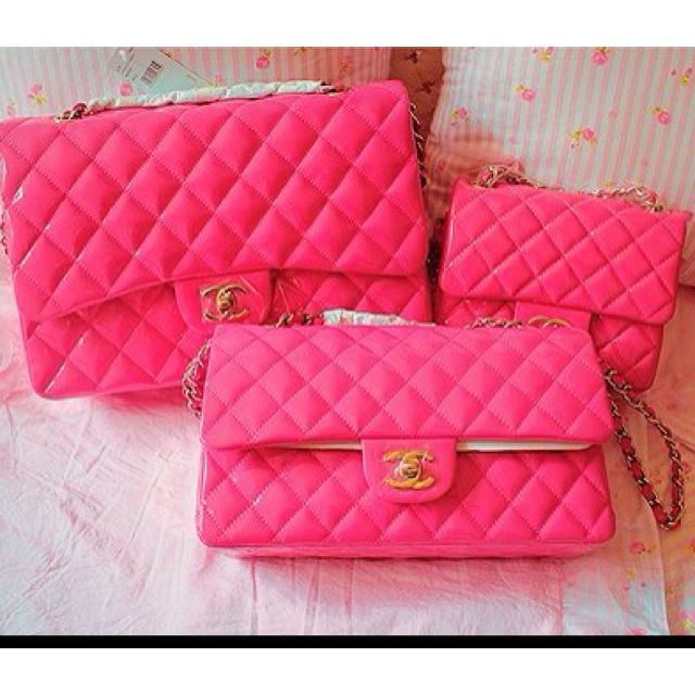 Chanel Flap Bag In Hot Pink