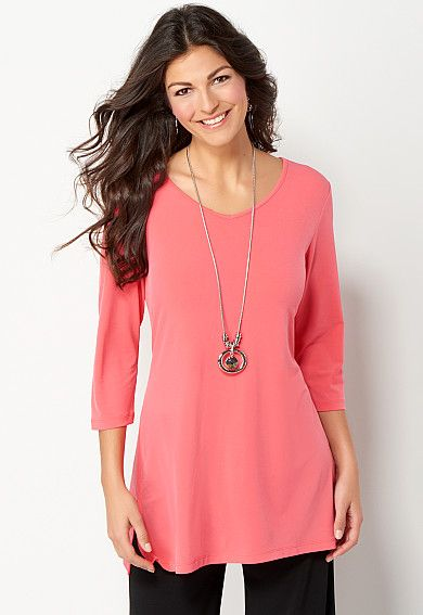 Easy Wear V Neck Tunic, 9-0036185228, Easy Wear V Neck Tunic Main View PDP