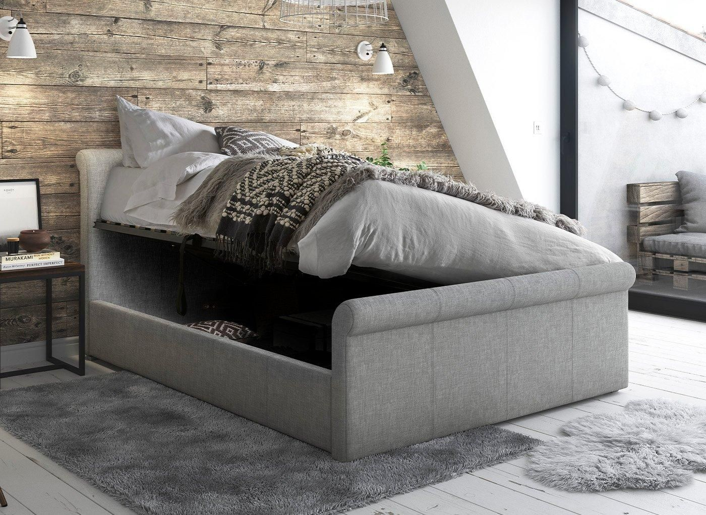 Wilson Upholstered Ottoman Bed Frame in 2020 Ottoman bed