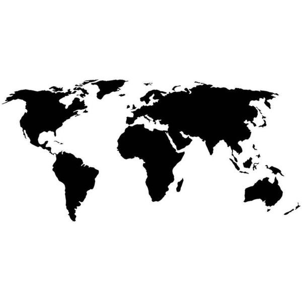 Dana decals world map black matte black by 260 zar liked on dana decals world map black matte black by 260 zar liked on gumiabroncs Image collections