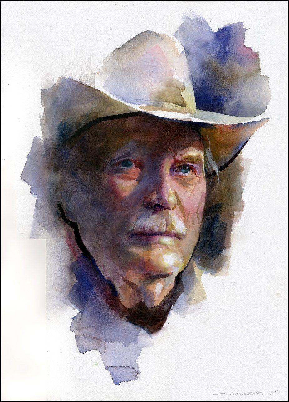 Stan Miller Watercolor Portrait … | Pinteres…