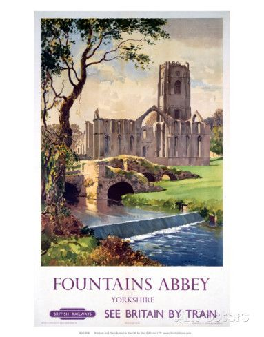 Fountains Abbey, Yorkshire, BR (NER), c.1956 Prints at AllPosters.com