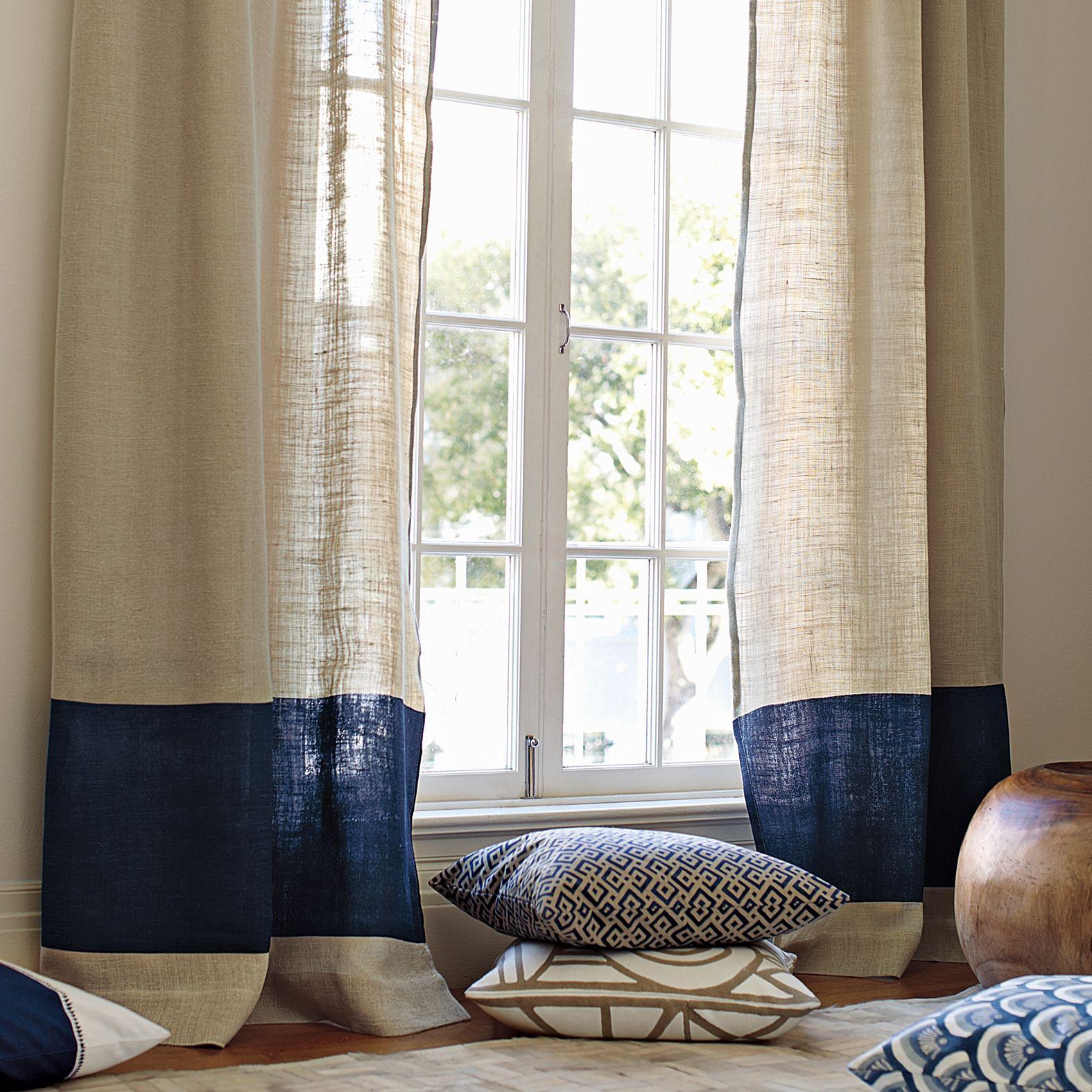 Color block window panel navy ethan cortinas - Cortinas rusticas dormitorio ...