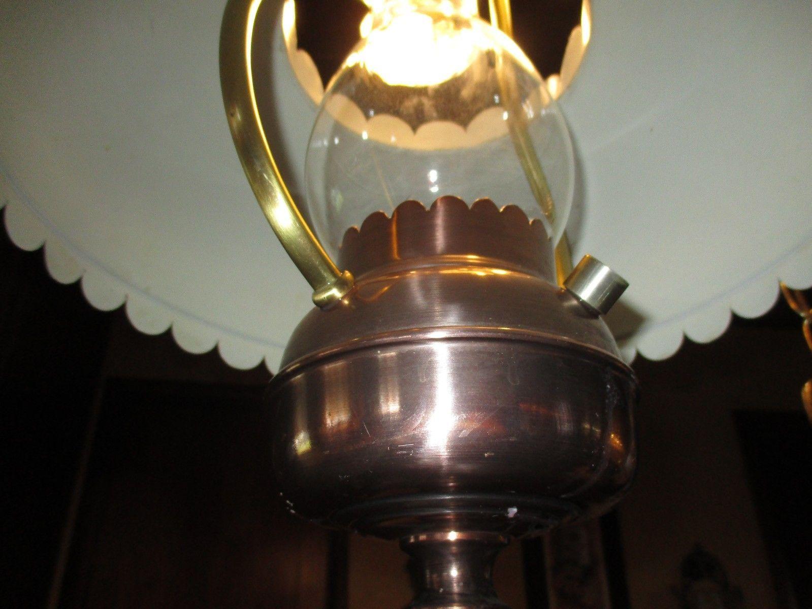 Vintage cheers era copper tone light fixture with cozy focal point vintage cheers era copper tone light fixture with cozy focal point light effect arubaitofo Images