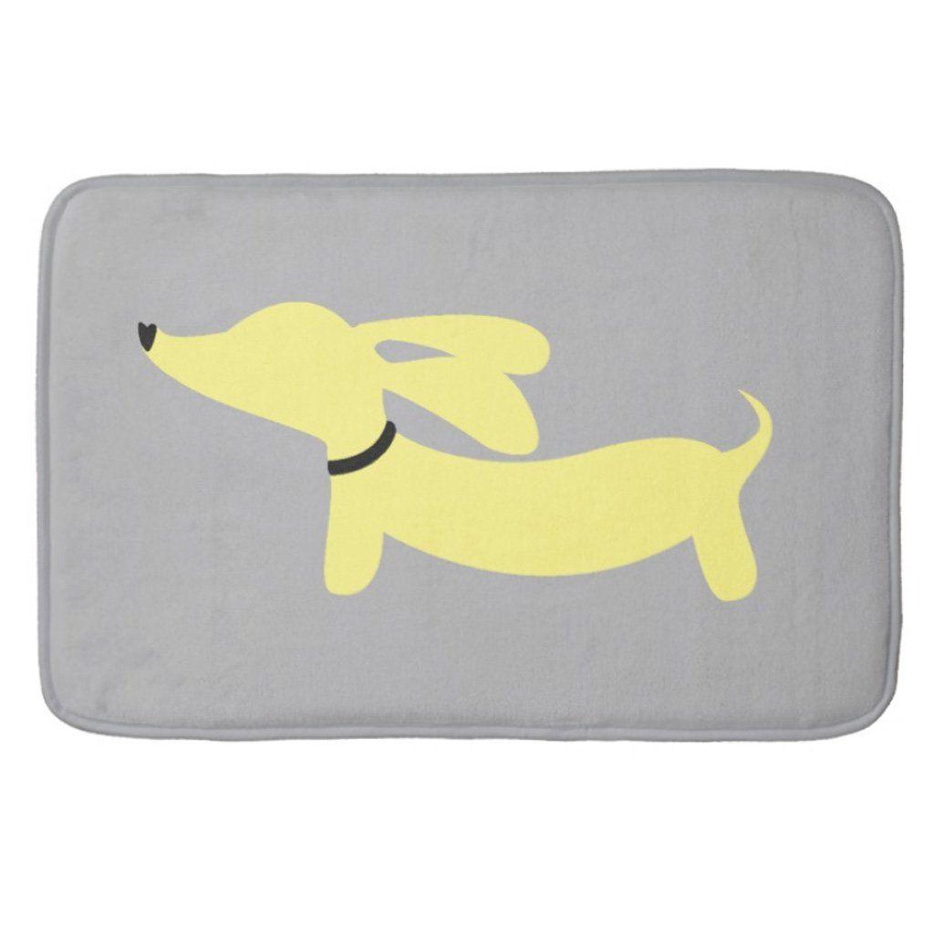 Yellow Doxie Dog Bath Rugs Products Bath Rugs Dog Nursery
