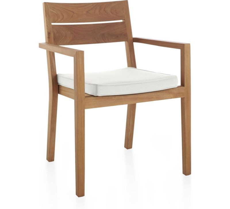 Regatta Natural Dining Chair With White Sand Sunbrella Cushion
