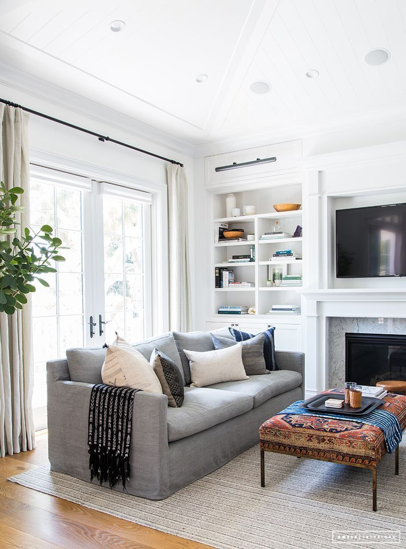 Before After Client Z To The E To The N Again In 2020 Casual Living Room Design Casual Living Rooms Transitional Living Room Design #small #living #room #bench