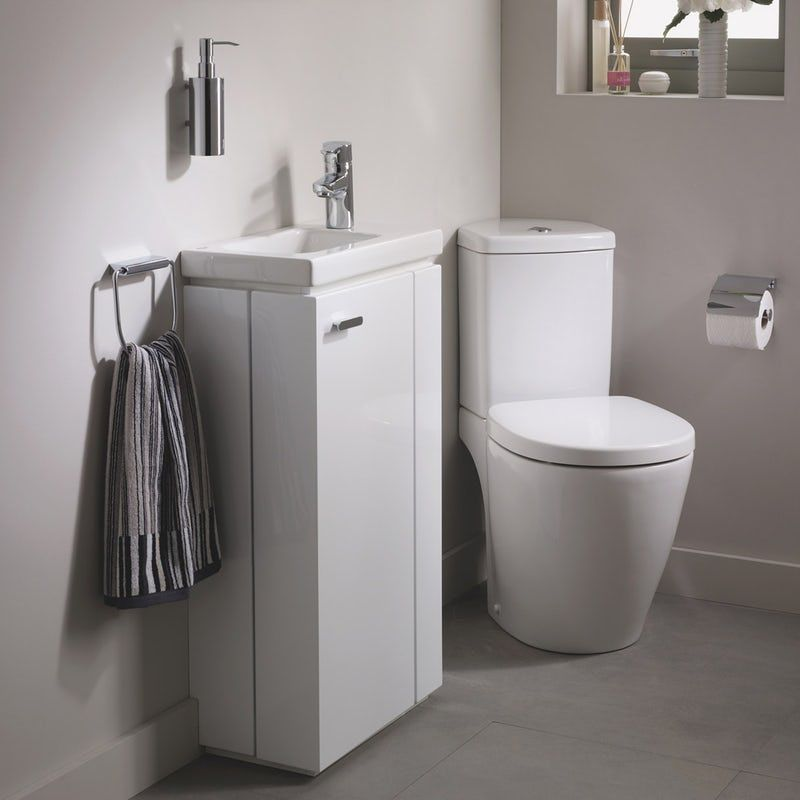 Ideal Standard Concept Space Right Handed Cloakroom Corner Suite With Vanity Unit And Basin Vanity Units Contemporary Toilets The Unit