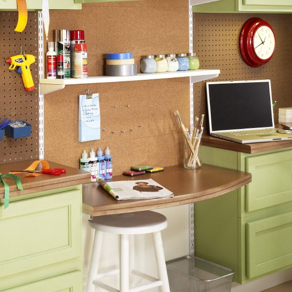 We like this adjustable work space!  Different heights for different projects, and easy to make.