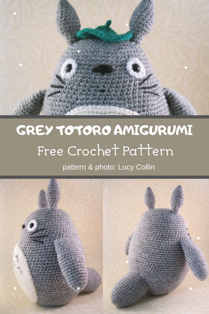 Grau Totoro Amigurumi Häkelanleitung