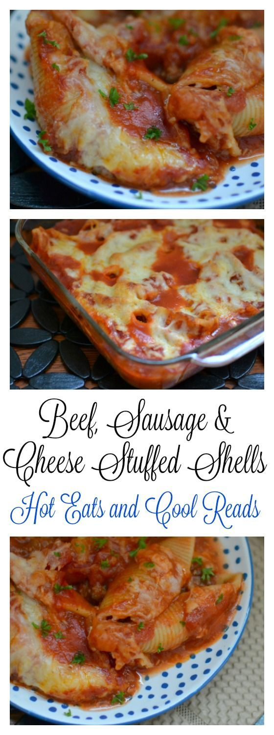 Italian Ground Beef Sausage And Cheese Stuffed Shells Recipe Beefsausage Tried And True Family Favorite Delicious Served With Winterrezepte Rezepte Lasagne