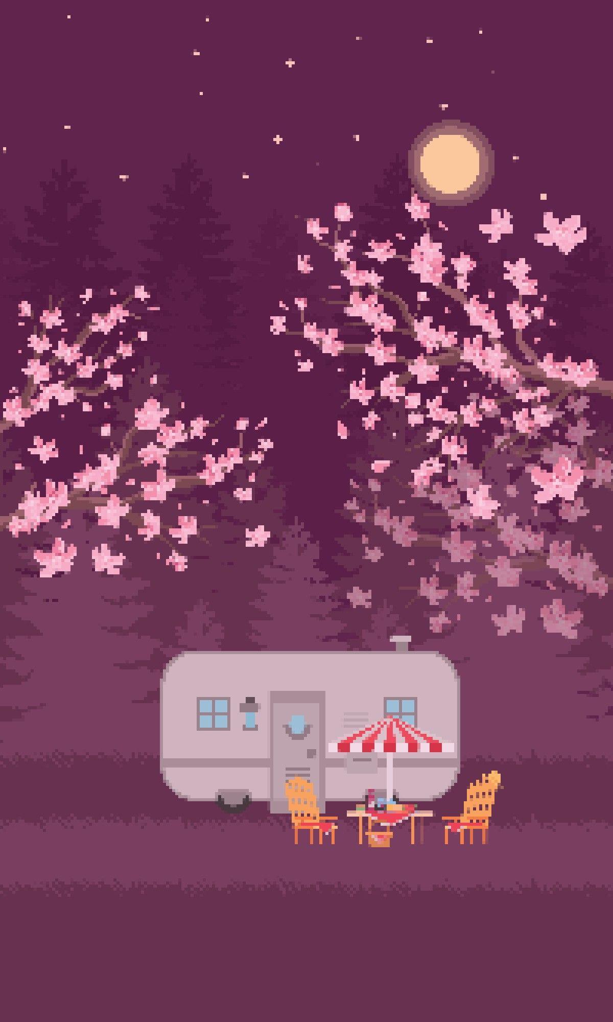 Stardew Valley Inspired Art Pam And Penny Trailer Home Phanachudoll Stardew Valley Pixel Art Phone Wallpaper
