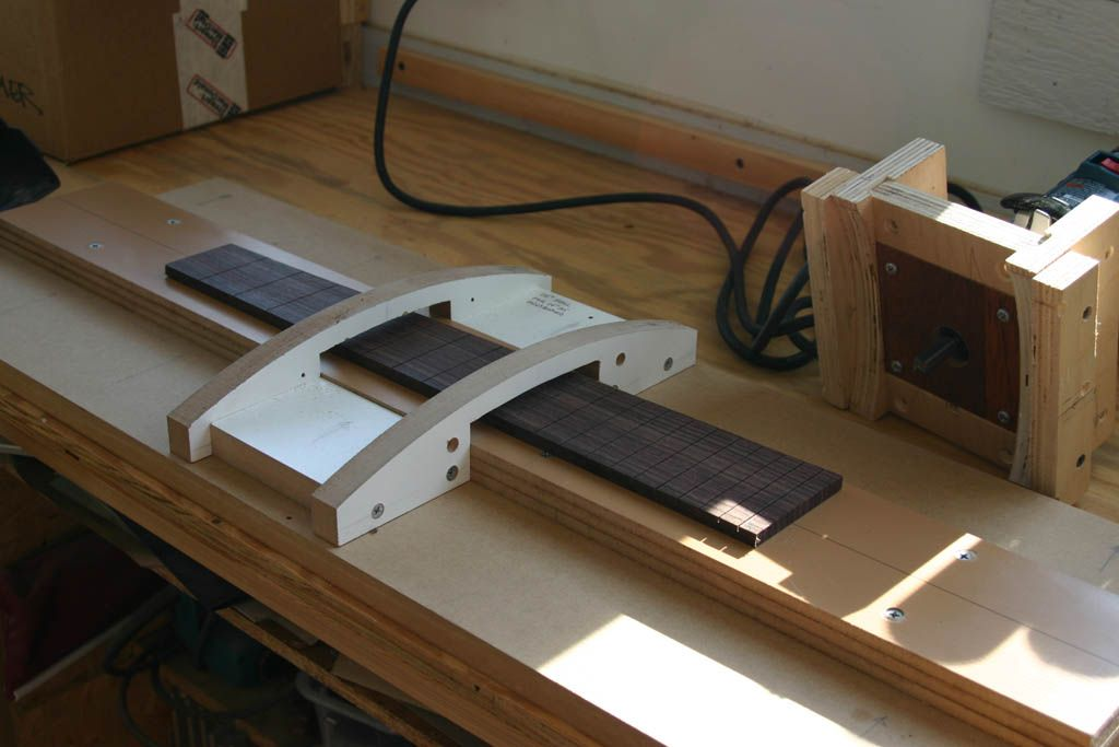 Fretboard Radius Jig From Blue Ridge Luthiers Woodworking