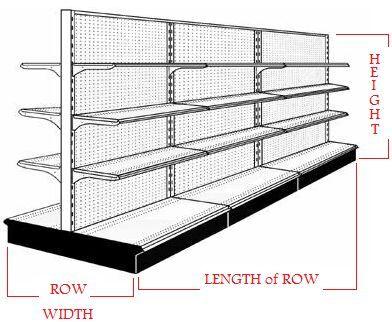 USED good quality gondola shelves. Very detailed | Gondola ...