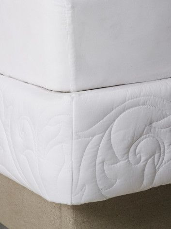 Palace Basics Box Spring Cover - Quilted Mattress Cover, White Box ... : quilted box spring cover - Adamdwight.com