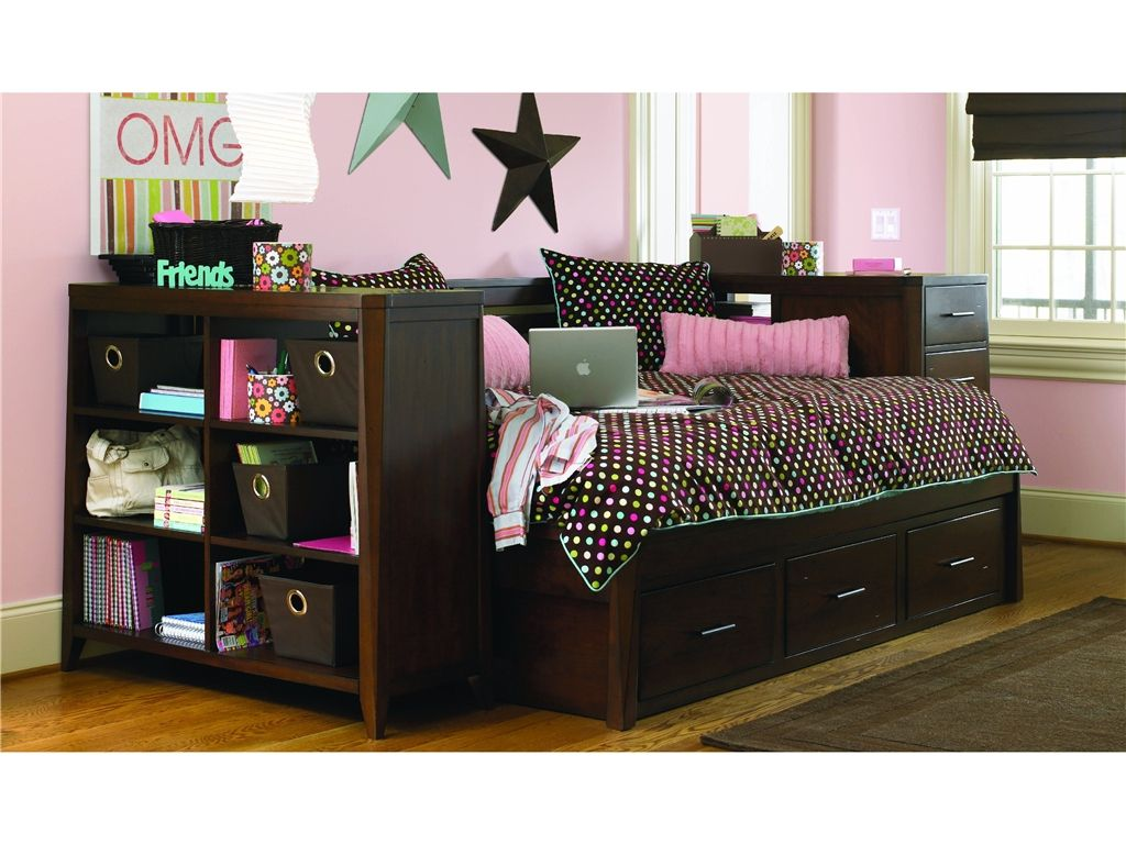 Trundle Daybeds Full Daybed With Trundle Bookcase Amp Pier G55968 At Kittle S Furniture