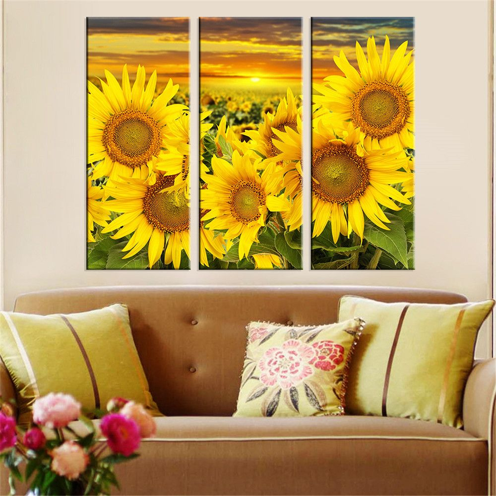 $11.64 - Awesome Hot Canvas Printed Sunflower Wall Painting Art ...