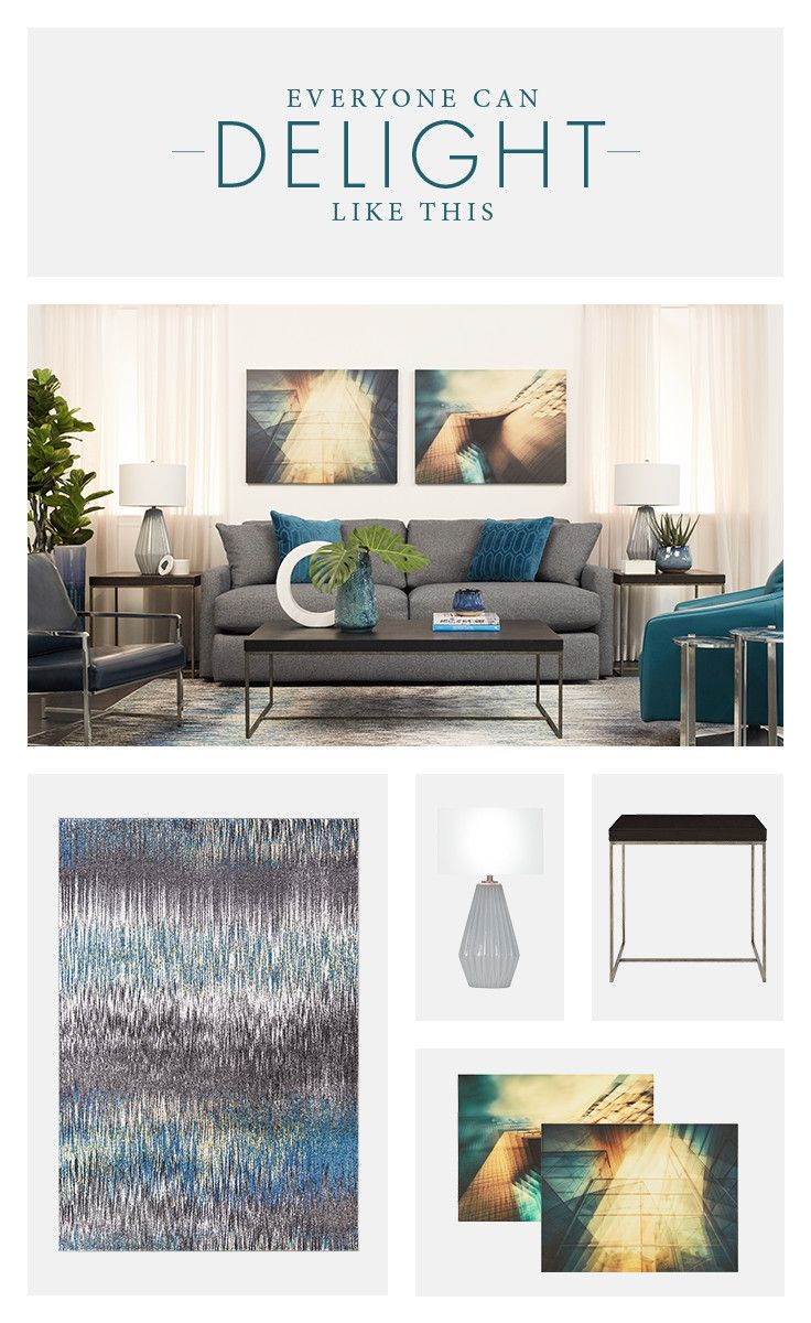 Let A Canvas Art Piece A Multicolored Rug Or A Stylish Lamp Give