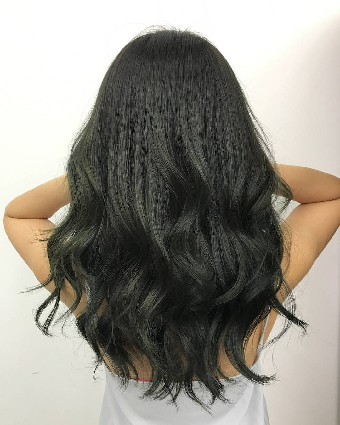 Digging The Colors Of Mother Nature Gradients Of Green Ash Tone Love This Hair Makeover Book Yourself An Ash Green Hair Ash Green Hair Color Ash Hair Color