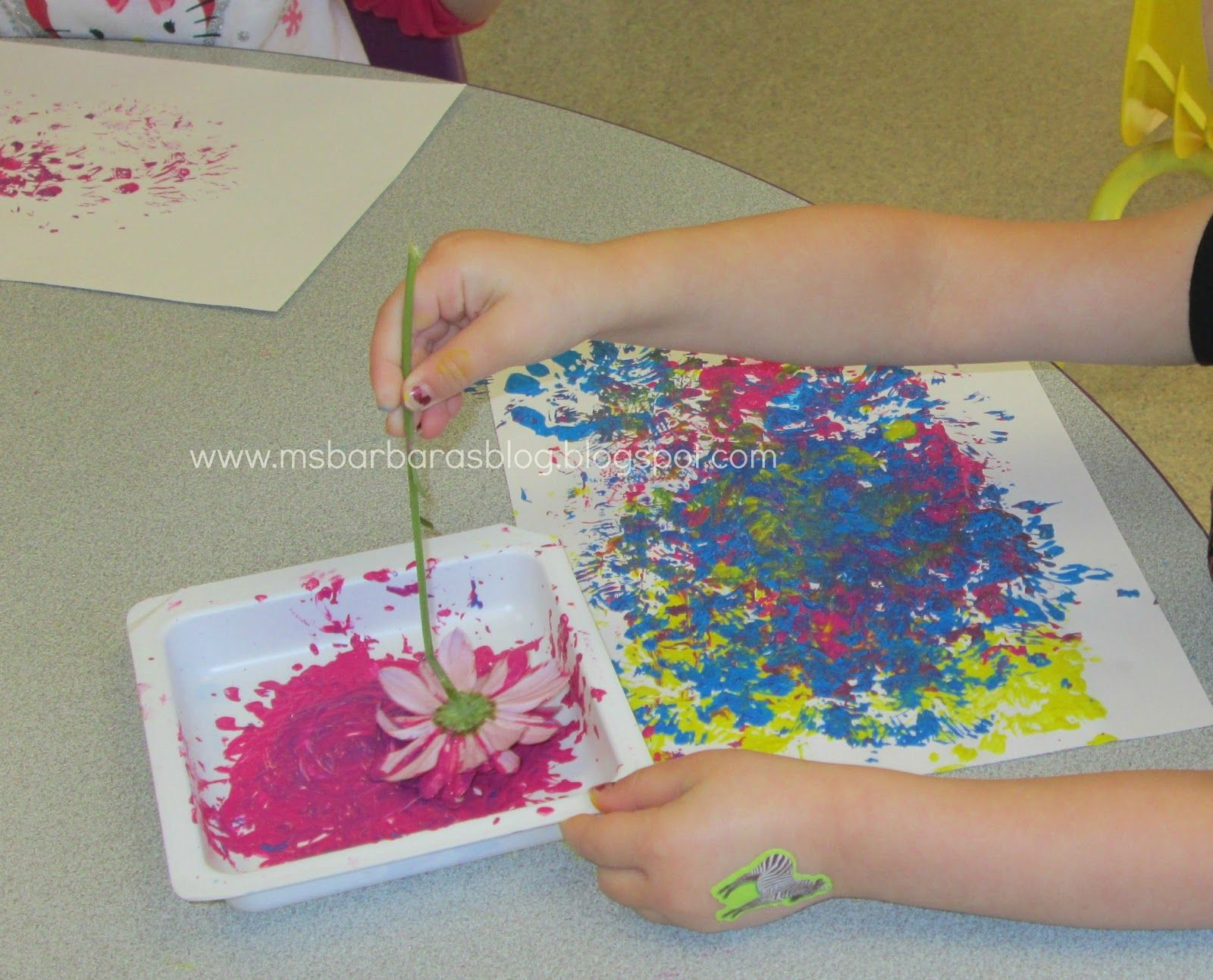 Flower Painting For The Children Earth Focus Worms Snails And Slugs Oh My