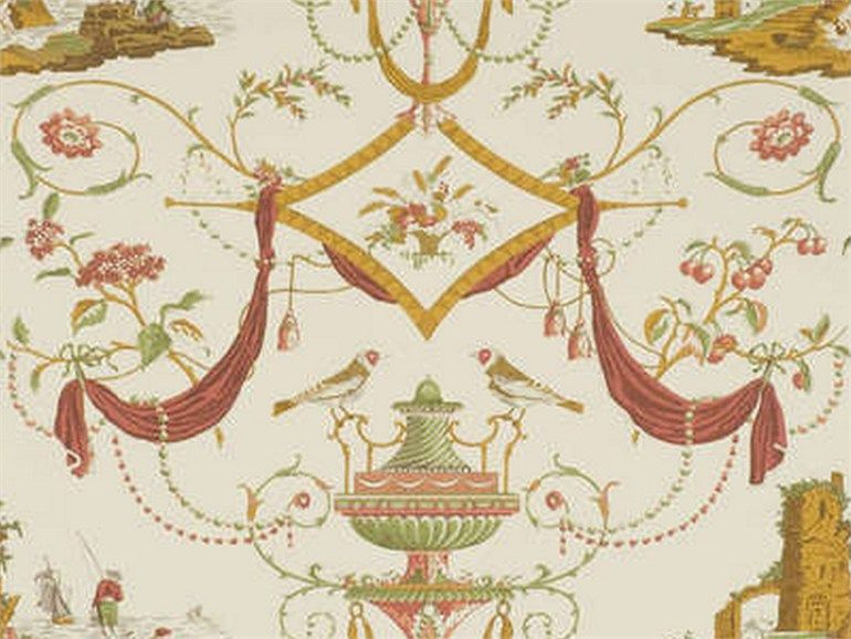 Pierre Frey Tessuti Arredamento.The Wallpaper Bazoches Is Part Of Pierre Frey Collection Toile De Nante End Of 18th Century Characteristic Pierre Frey Doll House Wallpaper Painting Wallpaper