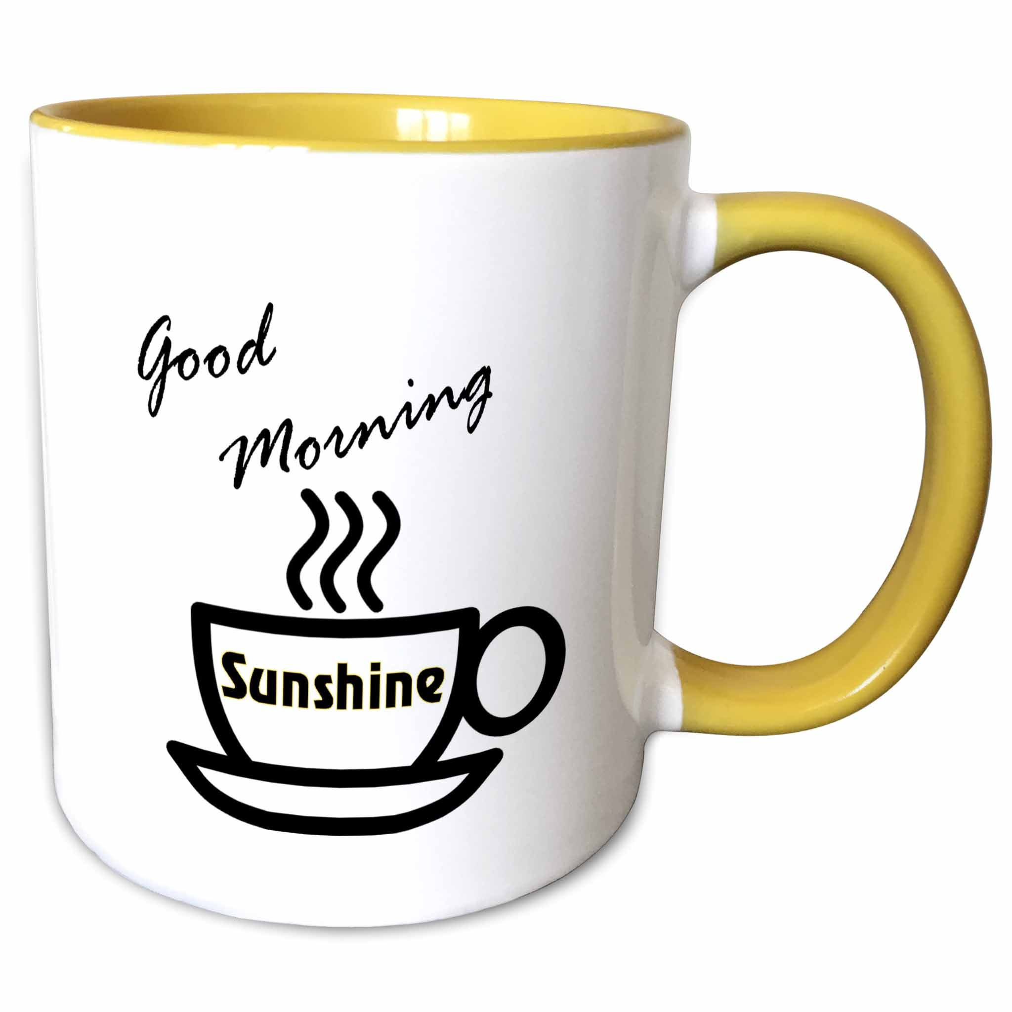 3dRose Print of Coffee Cup With Good Morning Sunshine
