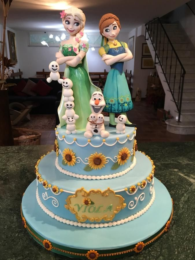 Frozen Fever - Cake by ZuccheroViola