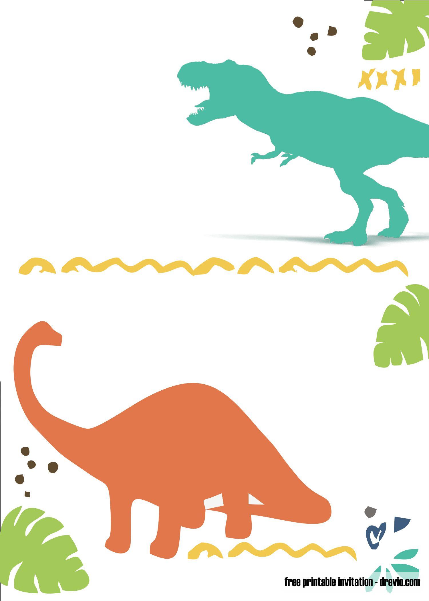 FREE Printable Dinosaur Invitation Template  Dinosaur birthday