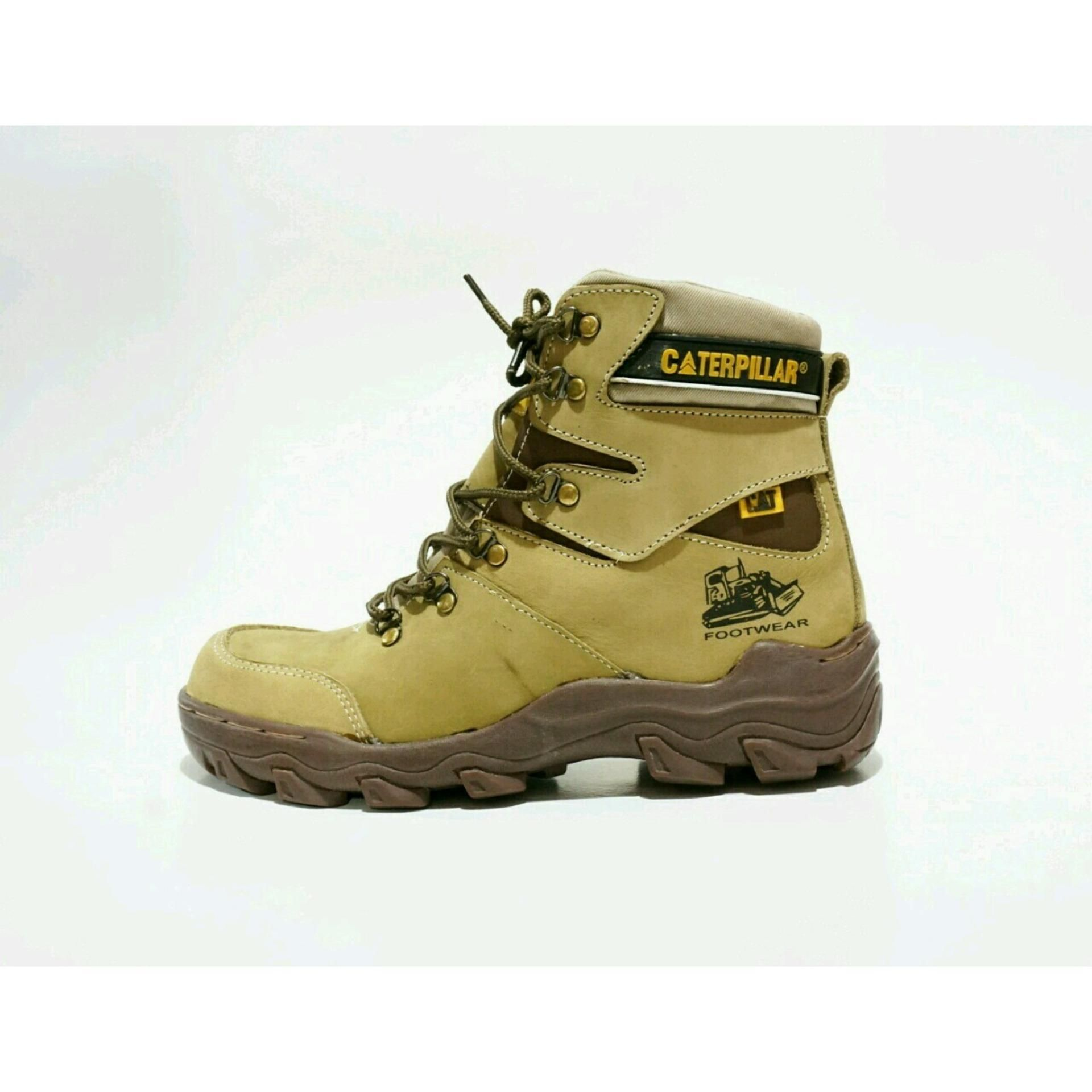 Sepatu Caterpillar Pajero Safety Boots KULIT ASLI Caterpillar Leather Boots Indonesia Safety
