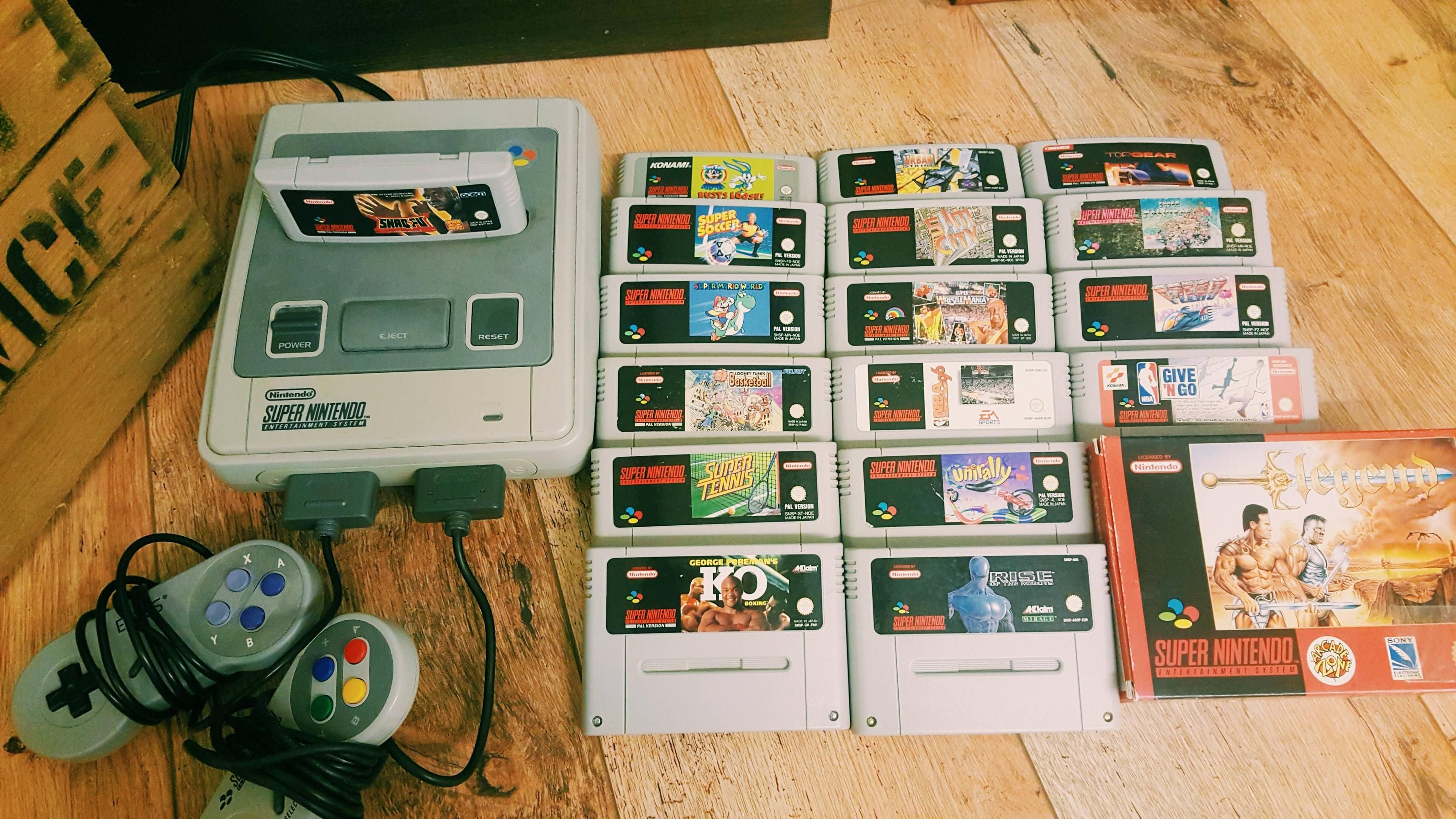 My Airbnb host lent me his SNES Collection
