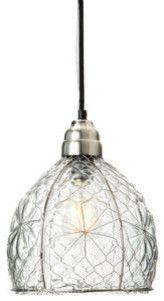 Wire Mesh Pendant traditional-pendant-lighting   Lighting ...