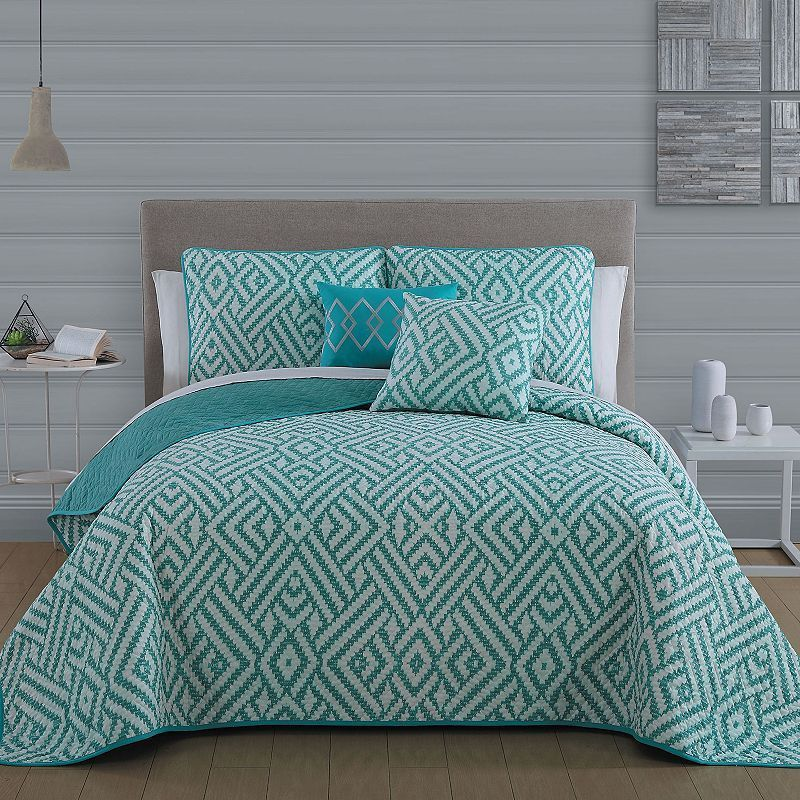 Avondale Manor 5-piece Kennedy Quilt Set, Blue
