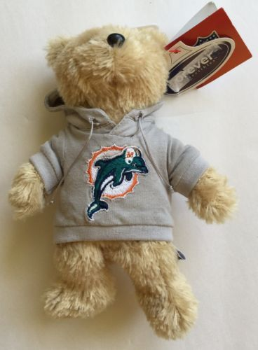 Miami Dolphins Teddy Bear Plush Stuffed Animal New Nfl Football
