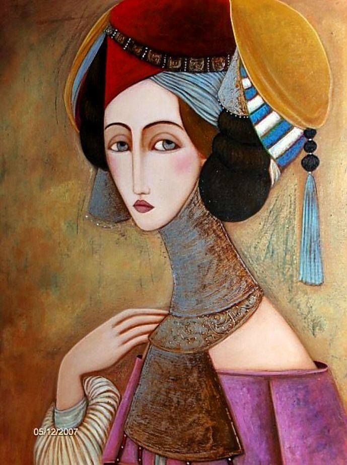 Faiza Maghni, 1964 | Faiza Maghni | Abstract painters, Art images ...